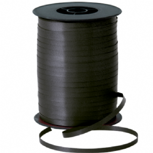 Black Balloon Ribbon for Balloons (500m x 5mm)